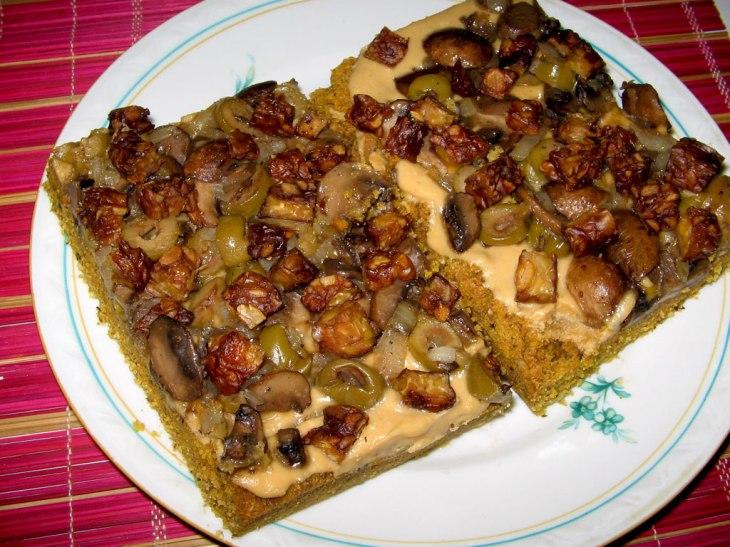 Vegan Peanut Butter Flatbread with Tempeh
