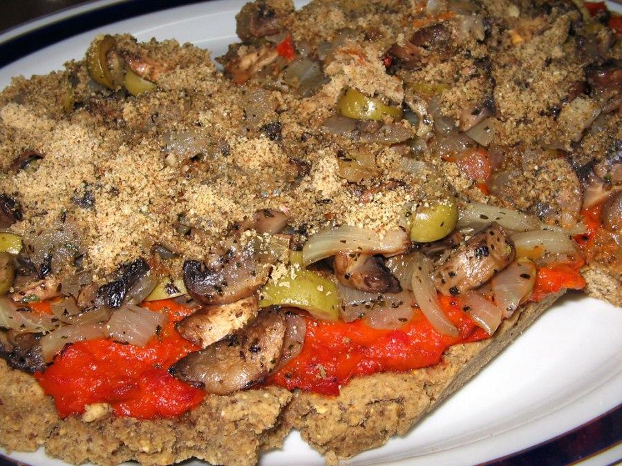 Vegan Chickpea Pizza
