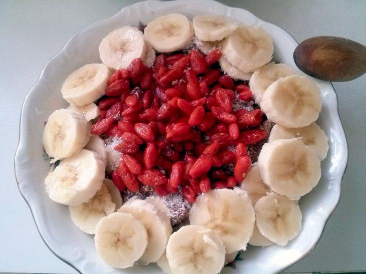 Vegan, wholefood, healthy breakfast