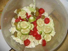 Salad in progress...
