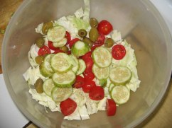 Salad in progress...