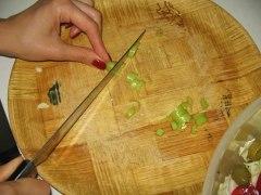 Chopping hot pepper