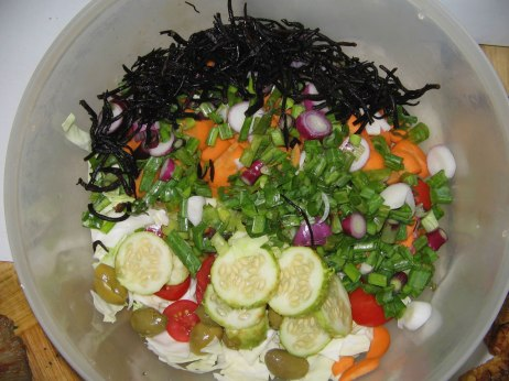 Salad almost done