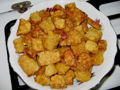 Fried tempeh