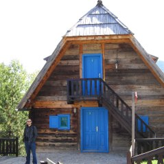 """Blue"" house in Drvengrad"