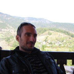 At the restaurant's terrace