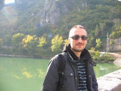 Mladen at the bridge, Visegrad