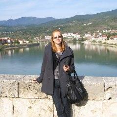 Milica at the bridge, Visegrad