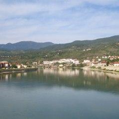 View on Visegrad from the bridge