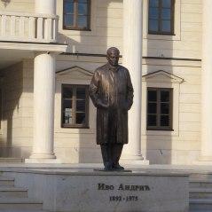 Statue of Ivo Andric, main square