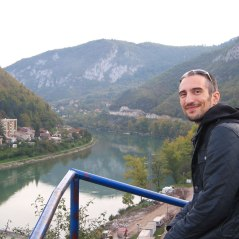 Mladen at the top of the viewpoint