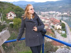 Milica at the top of the viewpoint