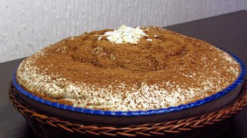 Image showing coconut cream pie sprinkled with carob powder and coconut shavings