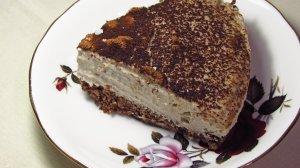 Piece of vegan coconut cream pie