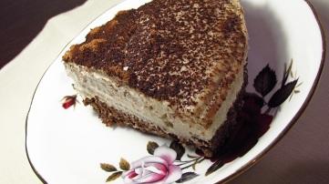 Delicious peace of raw vegan coconut cream pie