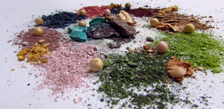 Crushed Makeup, Eye shadows, Glitter