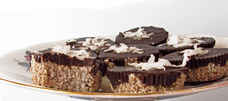 Raw Coconut Chocolate Covered Cupcakes
