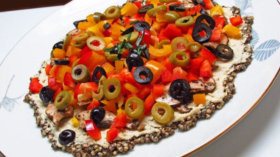 Raw Vegan Pizza (with) Salad
