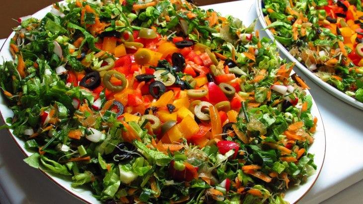 Raw Vegan No Dehydrator Pizza with Salad